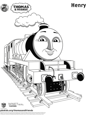 Генри раскраска