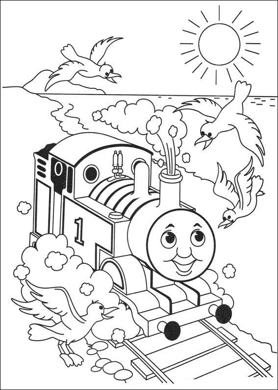 Раскраска Томас и его друзья картинка