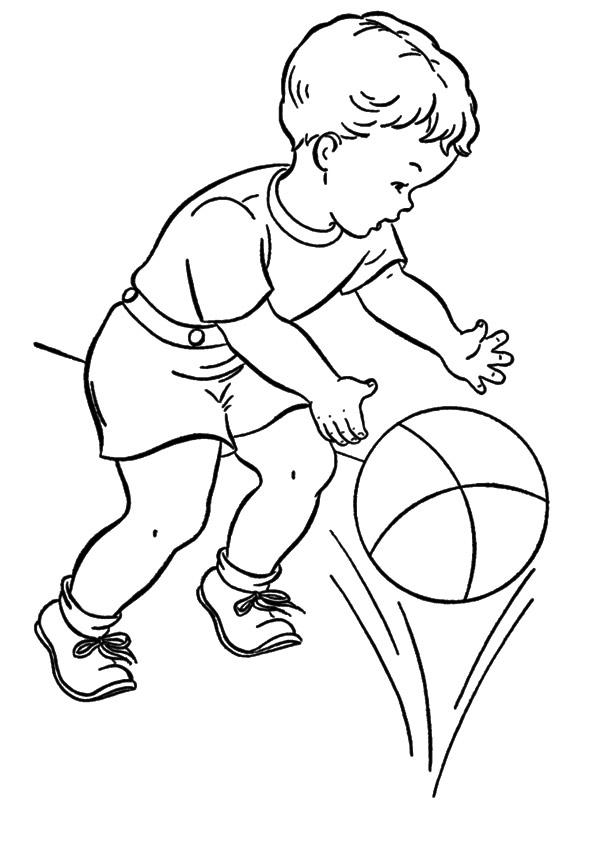 Картинки детские про спорт раскраски
