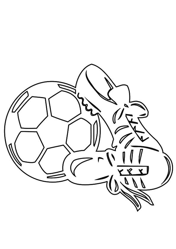 картинка бутсы и мяч черно белые пряжа