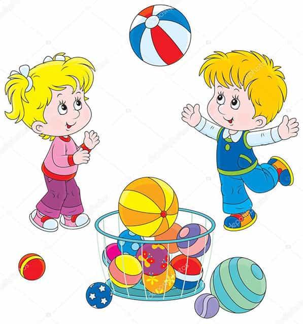 Стихи про мяч для детей картинка