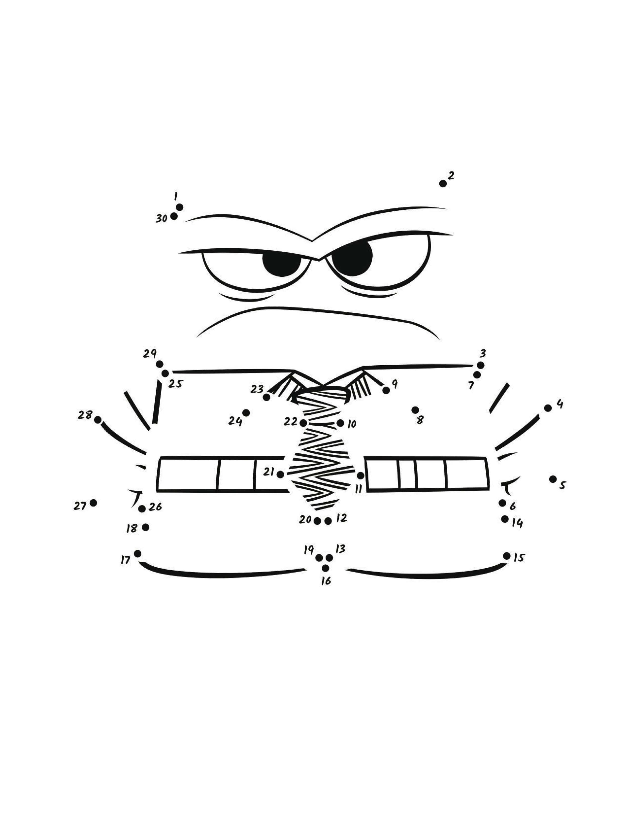 Эмоция Гнева для соединения по точкам