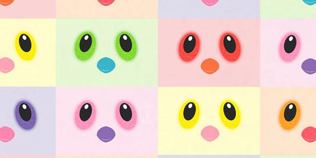 Hatchimals меняют цвет глаз
